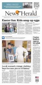 Sample News Herald front page