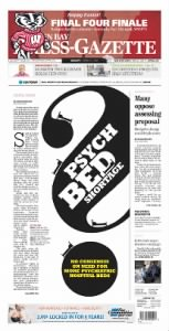 Sample Green Bay Press-Gazette front page