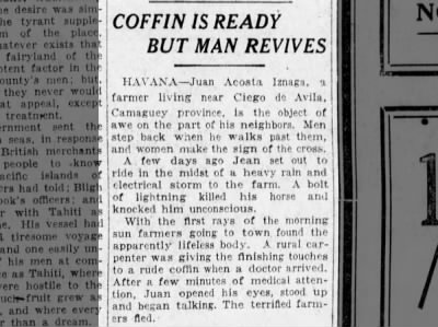 Coffin is Ready but Man Revives