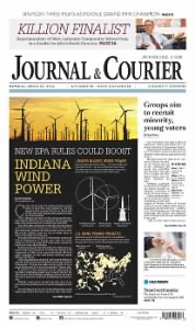 Sample Journal and Courier front page