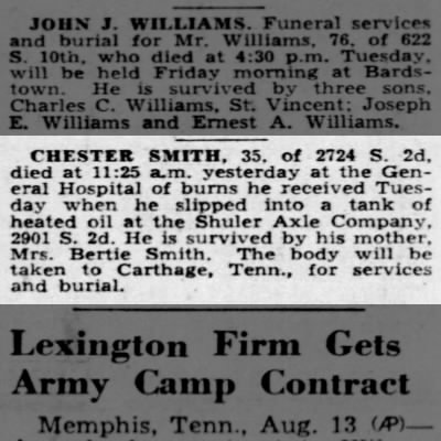 Chester Smith Death Notice