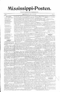 Sample Mississippi-Posten front page