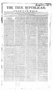 Sample The True Republican or American Whig front page
