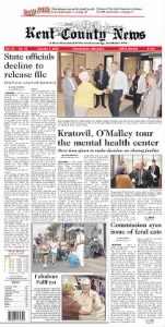 Sample Kent County News front page