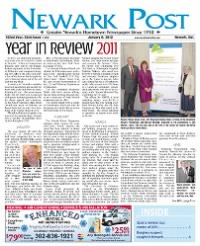 Sample The NewArk Post front page