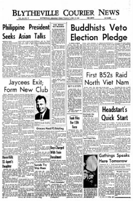 The Courier News from Blytheville, Arkansas on April 12, 1966 · Page 1