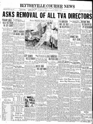 The Courier News from Blytheville, Arkansas on March 8, 1938 · Page 1
