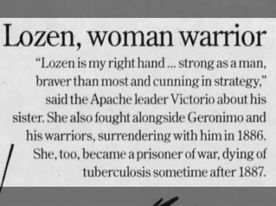 Lozen, warrior