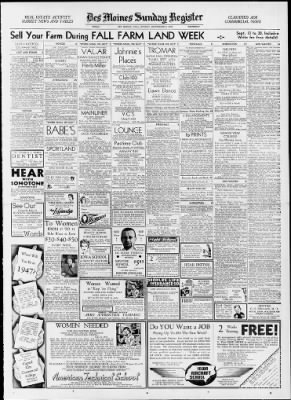 The Des Moines Register From Iowa On September 6 1942 Middot Page 29