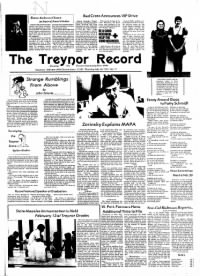 Sample The Treynor Record front page