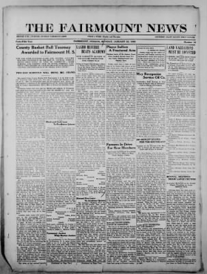 The Fairmount News from Fairmount, Indiana on January 23, 1922 · Page 1