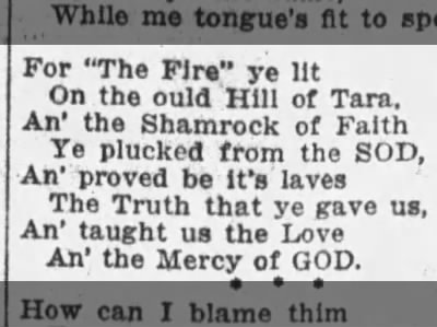 Excerpt from a poem about St. Patrick's non-Irishness