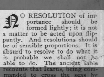 Advice on Resolutions, 1910