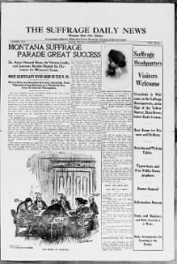 Sample The Suffrage Daily News front page