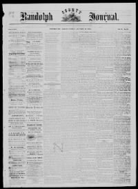 Sample Randolph Journal front page