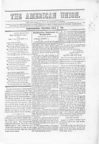 Sample American Union front page