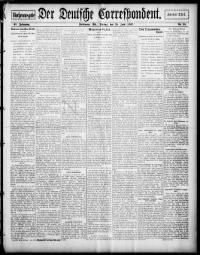Sample Der Deutsche Correspondent front page