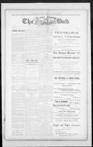 Sample The Hiawatha Daily World front page