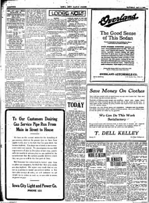 Iowa City Press-Citizen from Iowa City, Iowa on May 8, 1920 · Page 4