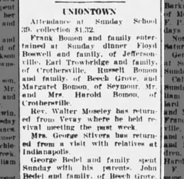 Mrs George Stivers returns, The Tribune, Seymour, Indiana, 18 Oct 1934, pg 8