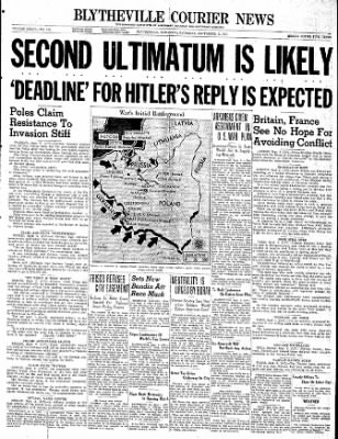 The Courier News from Blytheville, Arkansas on September 2, 1939 · Page 1