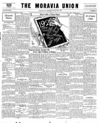 Sample Moravia Union front page