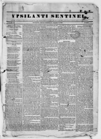 Sample Ypsilanti Sentinel front page