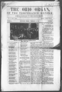 Sample The Ohio Organ, of the Temperance Reform front page