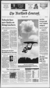 Sample Hartford Courant front page