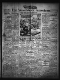 Sample The Woodstock American front page