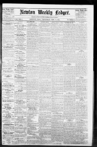 Sample Newton Weekly Ledger front page