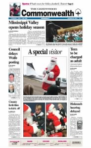 Sample The Greenwood Commonwealth front page