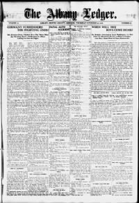 Sample Albany Ledger front page