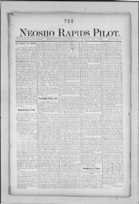 Sample The Neosho Rapids Pilot front page