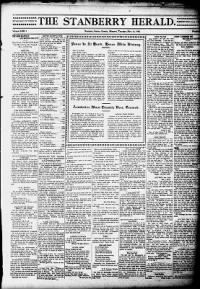 Sample Stanberry Headlight front page