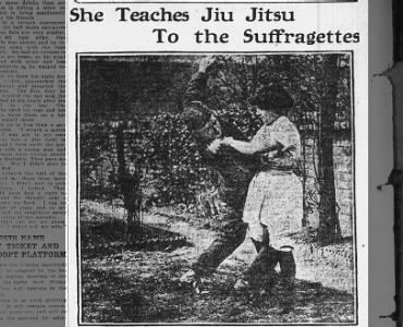 She Teaches Jiu Jitsu to the Suffragettes
