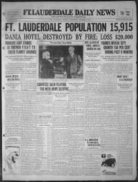 Sample Fort Lauderdale News front page