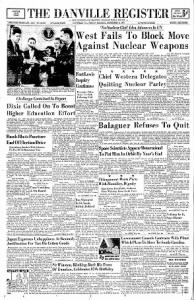 Sample The Danville Register front page