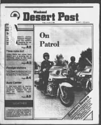Sample Weekend Desert Post front page