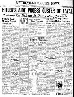 The Courier News from Blytheville, Arkansas on December 17, 1940 · Page 1