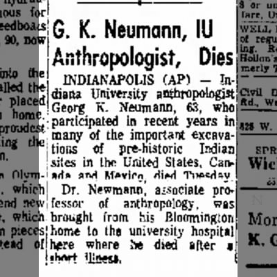 Anderson Herald (IN) 14 Apr 1971 p.15 Georg K Neumann death