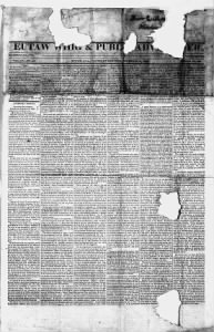 Sample Eutaw Whig and Public Advertiser front page
