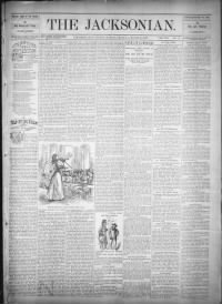 Sample The Jacksonian front page