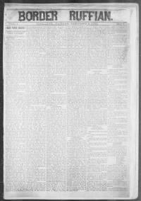 Sample Border Ruffian front page