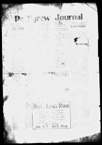 Sample Pettigrew Journal front page