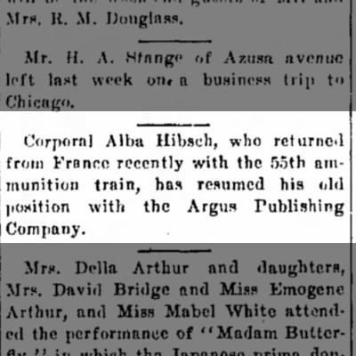 Alba Hibsch 4 Apr 1919
