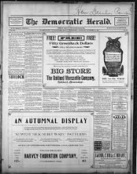 Sample The Democratic-Herald front page