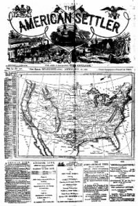 Sample The American Settler front page