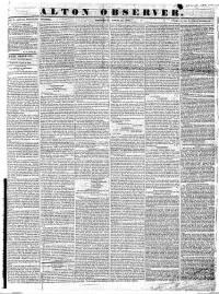 Sample Alton Observer front page