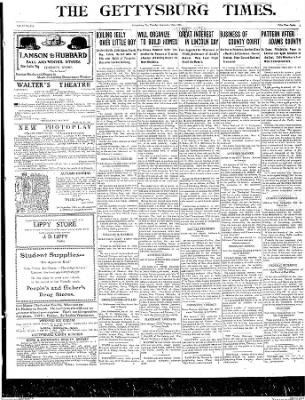 The Gettysburg Times from Gettysburg, Pennsylvania on September 16, 1913 · Page 1